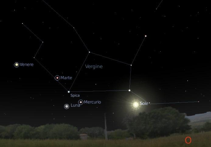 marte venere mercurio vergine settembre 2008